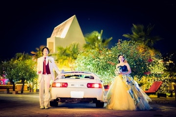 挙式披露宴のあとは二次会!「クレールベイサイド」さんで結婚式写真撮影の続き