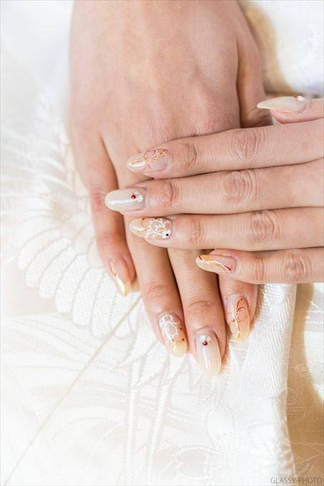 白無垢の時にも花嫁さんのネイル写真を撮っています
