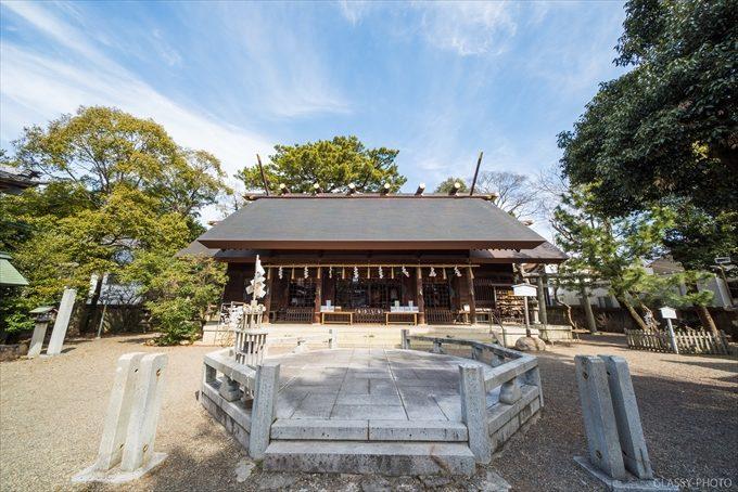 安久美神戸神明社さんの本堂