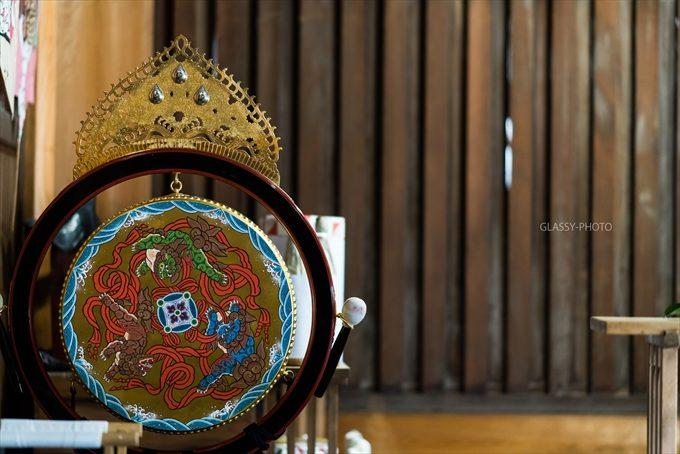 神社ではよくお見掛けする太鼓