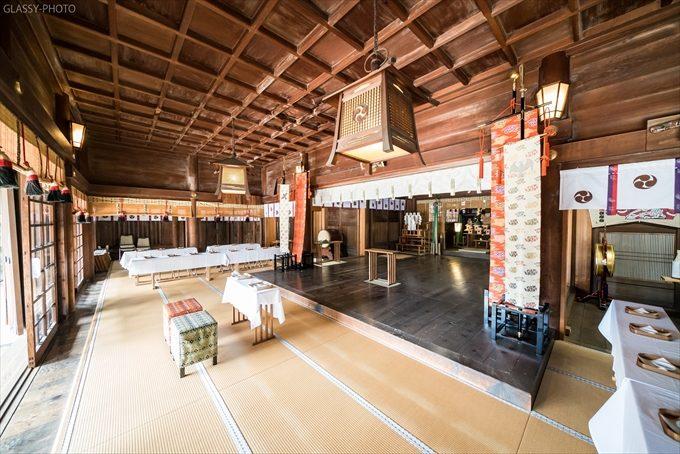 安久美神戸神明社さんの本堂内は結構広くて写真撮影もしやすい
