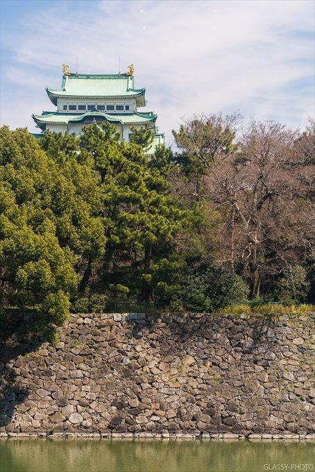 披露宴会場から望む名古屋城は緑に囲まれていることがわかりますね