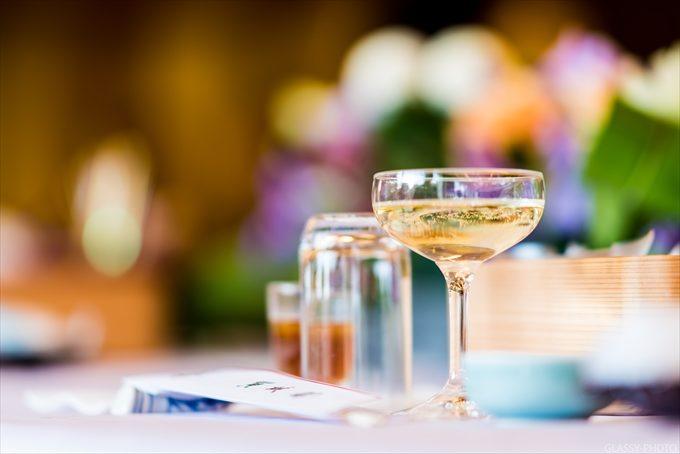 グラスに注がれたシャンパンの写真を撮るのが好きです