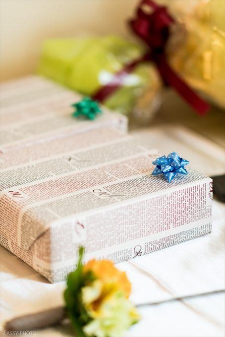 綺麗な梱包がされた感謝のプレゼント 中身は何でしょうか?