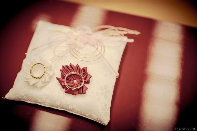 リングピローも素敵 神前式にとても似合う色使いとデザインも和の雰囲気が出てていい!