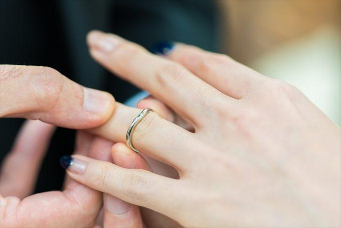 リハーサル時に指輪交換の手元を撮らせてくださいね