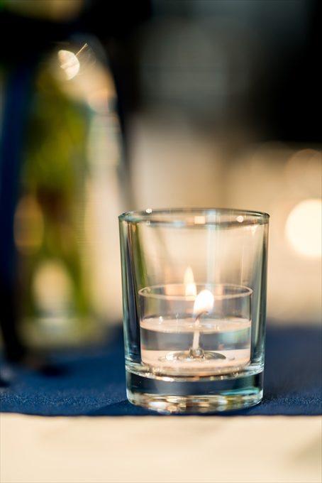 グラスに入ったキャンドルは写真撮影においてとっても重要なアイテムとなるのです