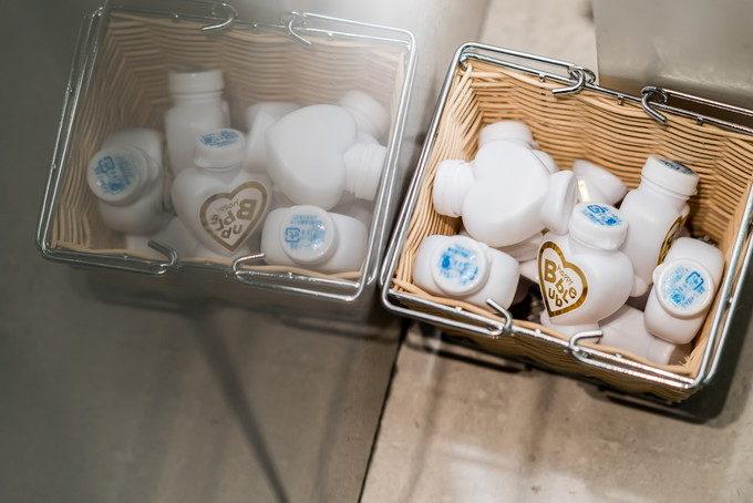 バブルシャワーの元が入ったケースも可愛いアイテムなんです