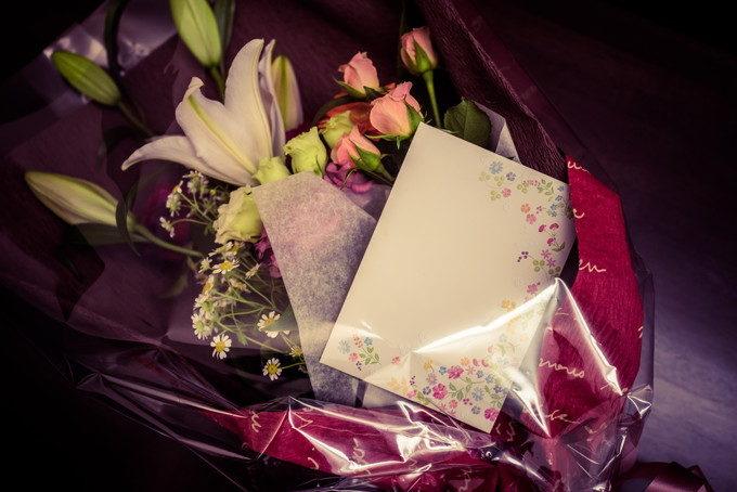 ご両親への花束と感謝のお手紙 感動シーンをありがとうございました(:_;)