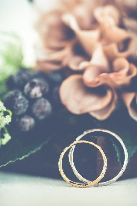 二つのリングを重ねた写真も好きです 色んな撮り方をしておきます