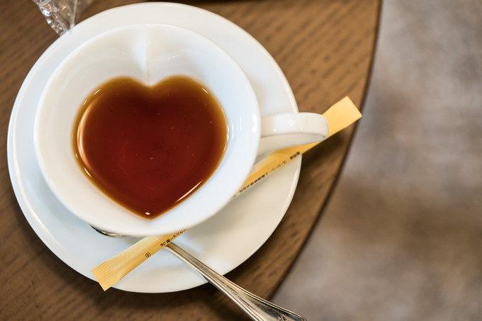 控室にあったハート型のコーヒーカップ ちょっとした小物が可愛い!