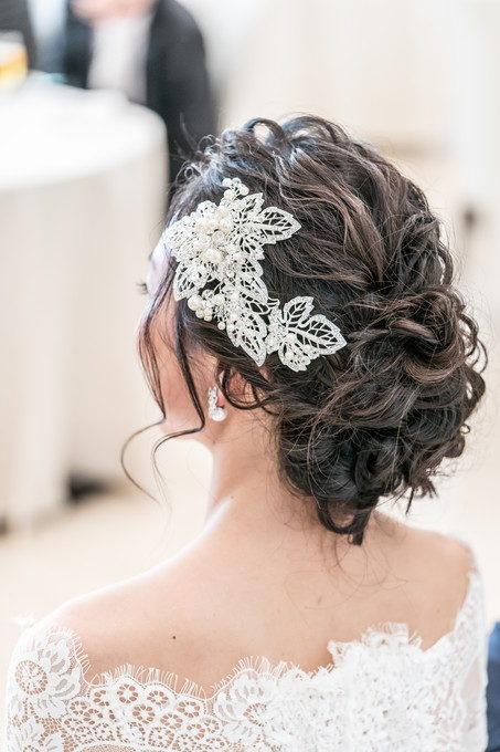 花嫁さんのヘアースタイルを自然な形で写真に残したい