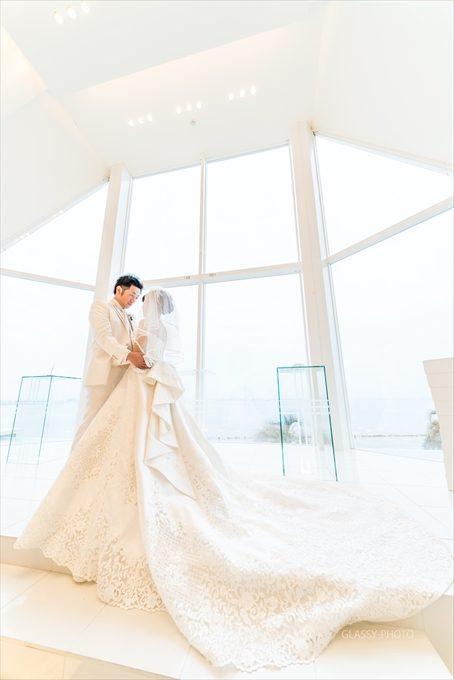 柔らかい光となって花嫁さんを美しく照らしておりました