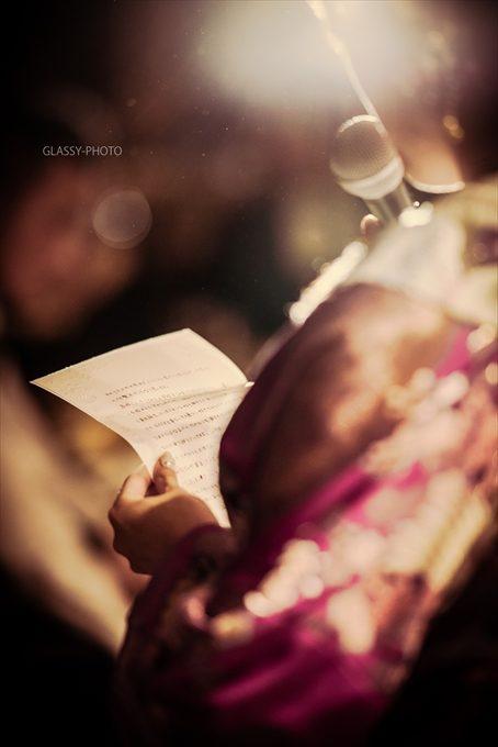 花嫁の読む感謝の手紙
