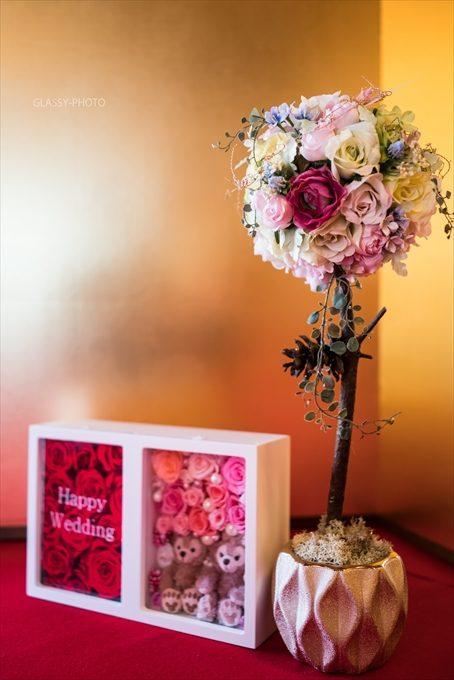 シンプルなお花の飾り