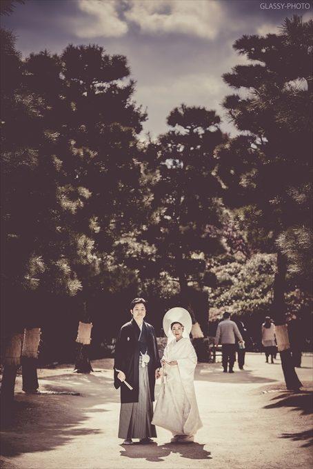 披露宴までのちょっとした時間でポーズ写真