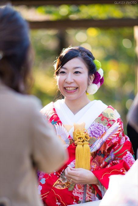 送賓時の花嫁さんの笑顔