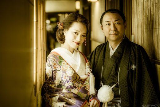 和装がとても似合う結婚式場さんです 賀城園 名古屋市 熱田区 結婚式 写真 カメラマン