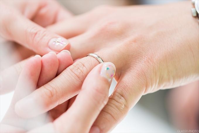 指輪交換時の手元の寄り写真は撮りたい