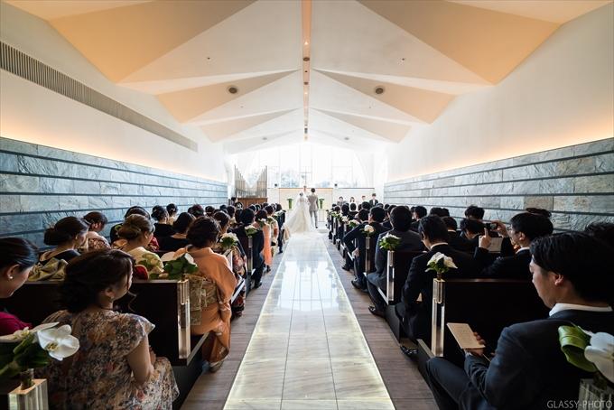 お二人が祭壇についたら讃美歌、誓約へと続きます