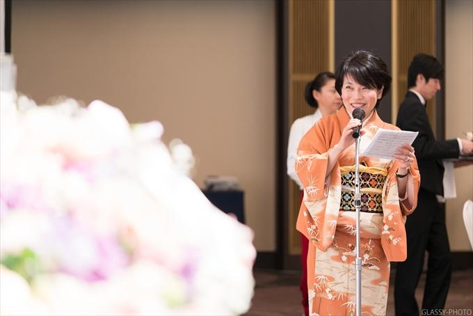 お子ちゃまの花束プレゼントから、ご友人によるスピーチへ