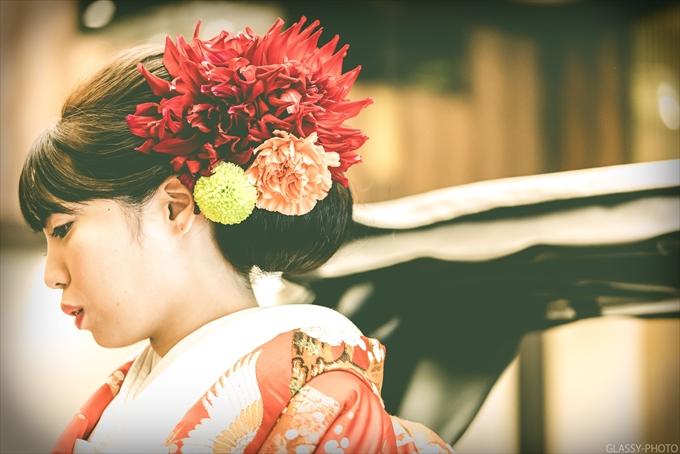 名古屋城の真横にあるホテルで結婚式の写真撮影