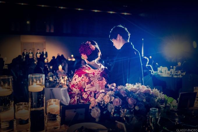 花嫁さんによる感謝のお手紙朗読から花束贈呈です