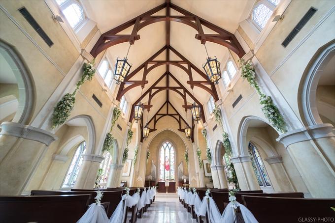 大聖堂のチャペルは天井が高くていい雰囲気してます