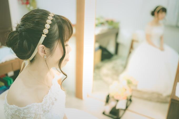 メイクルームの花嫁さん