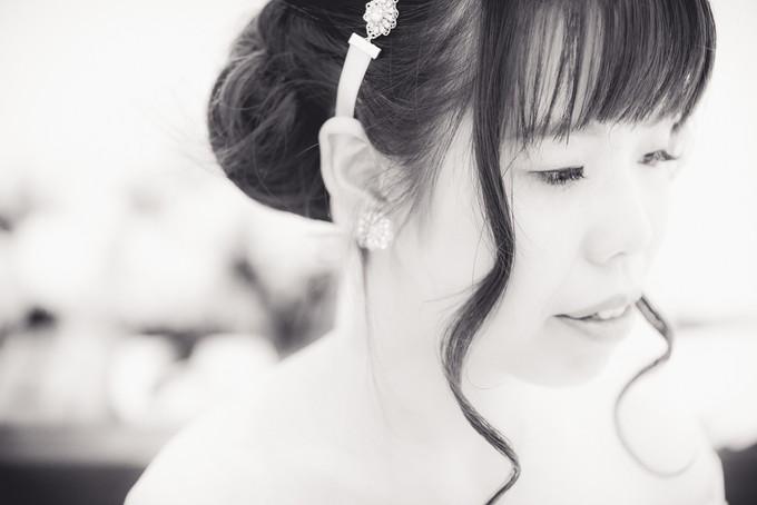 美しい花嫁さんのアップ