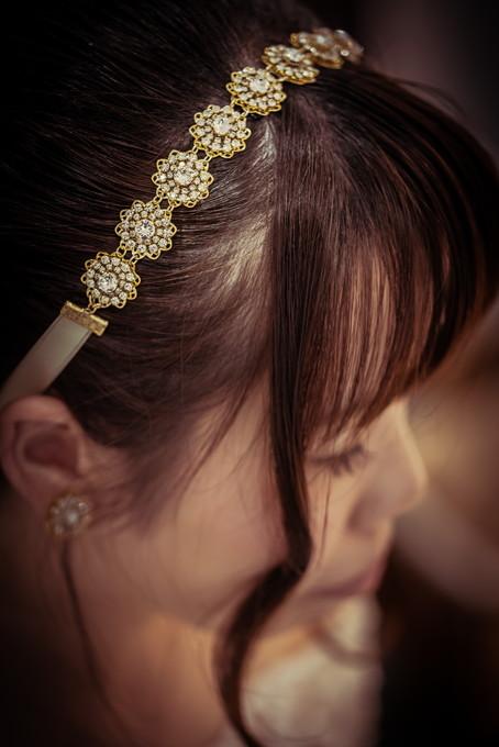 花嫁さんの髪飾りも素敵です