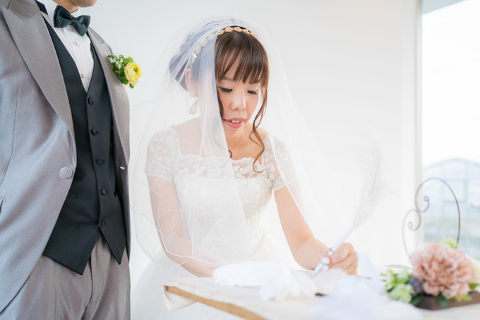 花嫁さんもサイン!