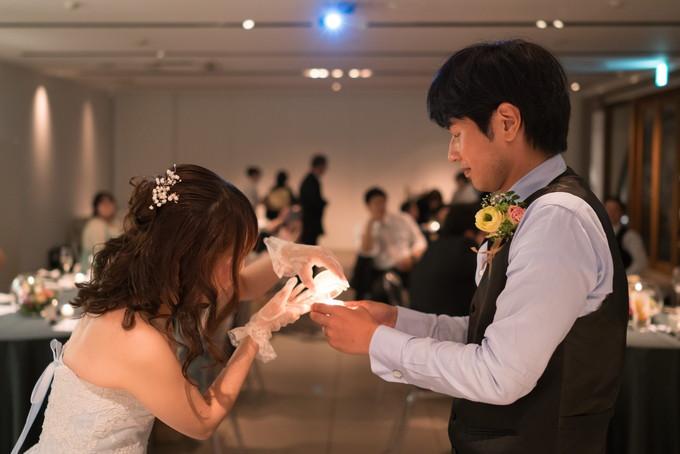 最後は花嫁さんから新郎さんへ