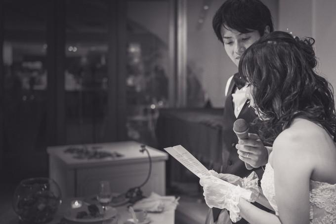 花嫁さんからご両親への感謝のお手紙が読まれます