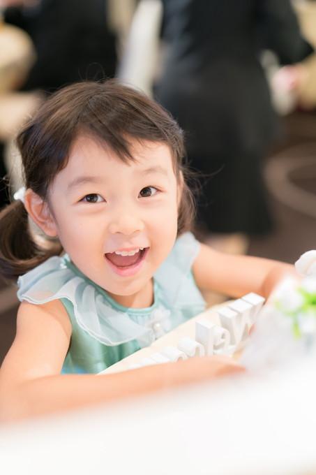 かわいい姪っ子の笑顔
