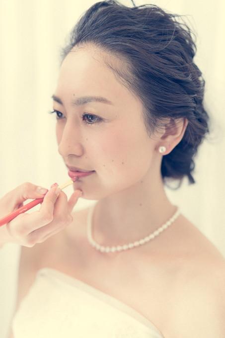 美しい花嫁のリップシーン