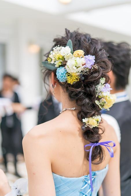お色直しした花嫁のヘアースタイル