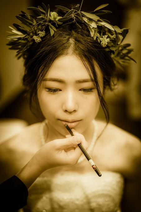 花嫁さんのリップシーンは正面からも撮りたい