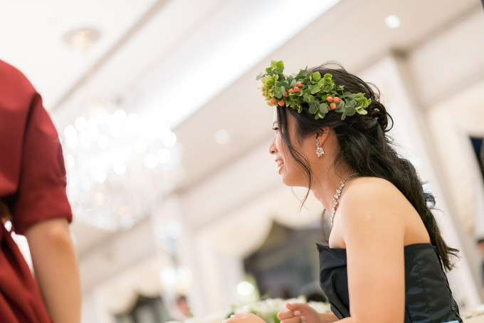 笑顔の花嫁の横顔