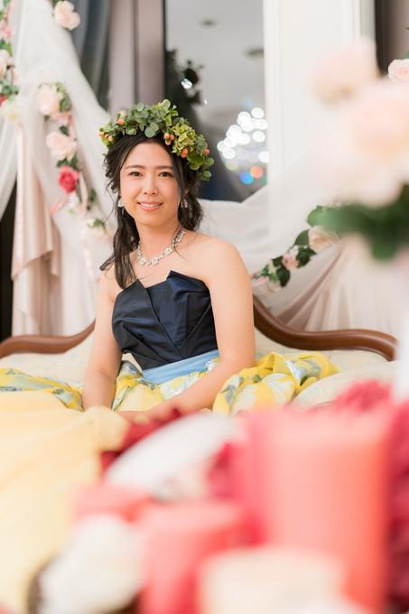 カメラ目線の花嫁さんも撮ります