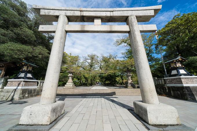 三嶋大社の入り口にある大きな鳥居