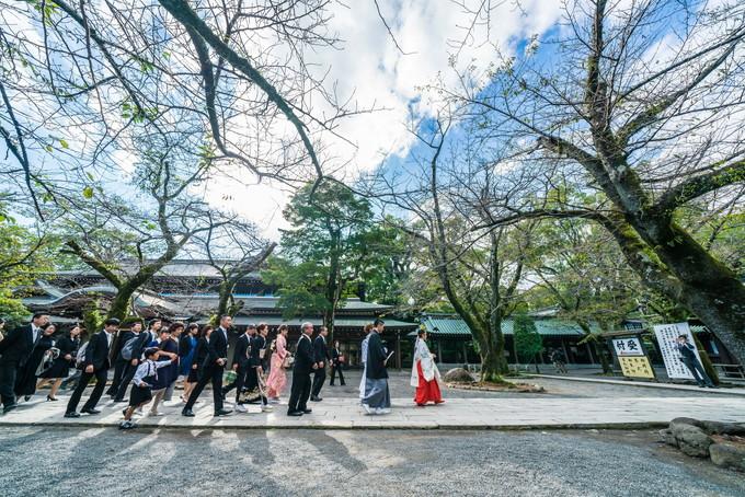 三嶋大社での花嫁行列