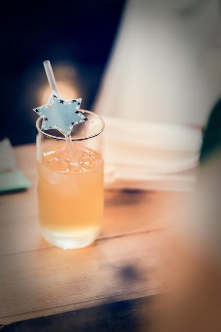 ジュースで乾杯します