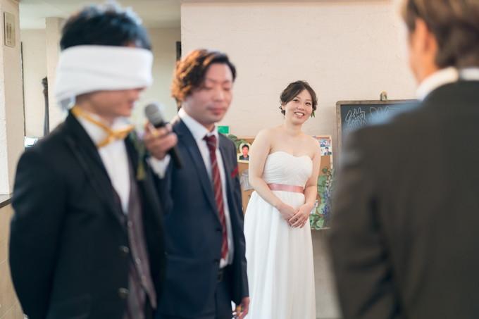 楽しそうに見守る花嫁