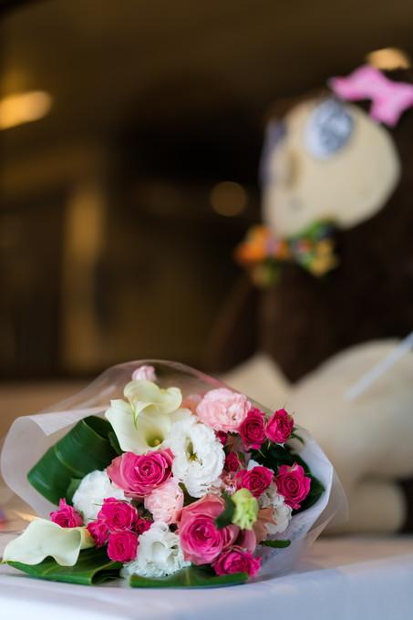 感謝の花束とウェルカムドール