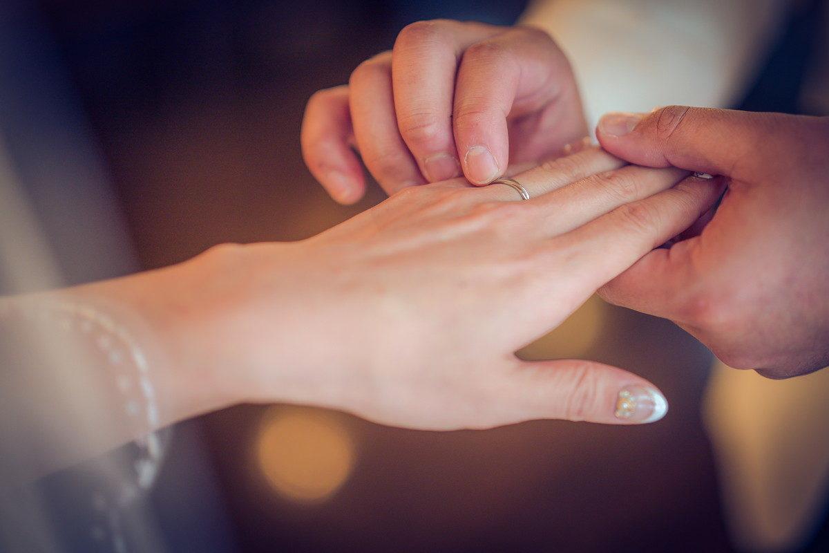 指輪交換時の手元アップはリハーサル時に必ず取りたい