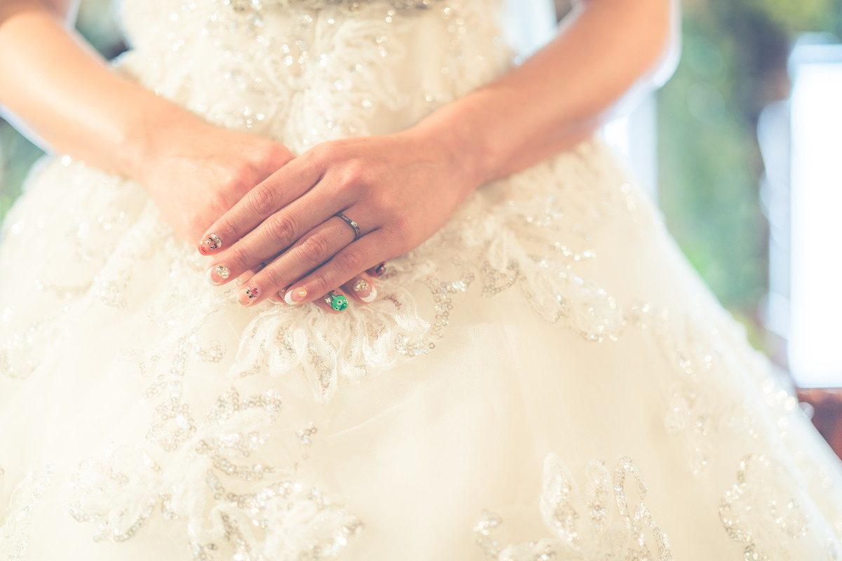 花嫁さんは手の位置も常に意識しておいてください