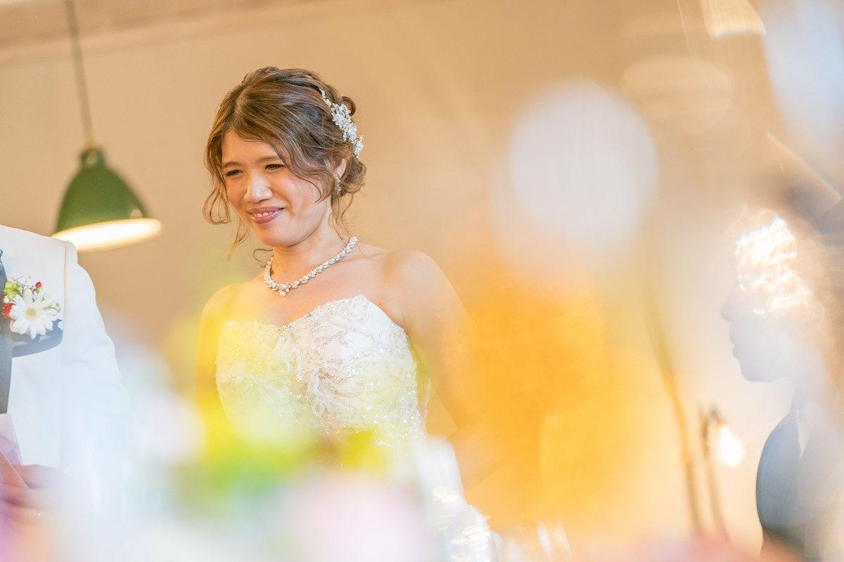 素敵な笑顔の花嫁さん