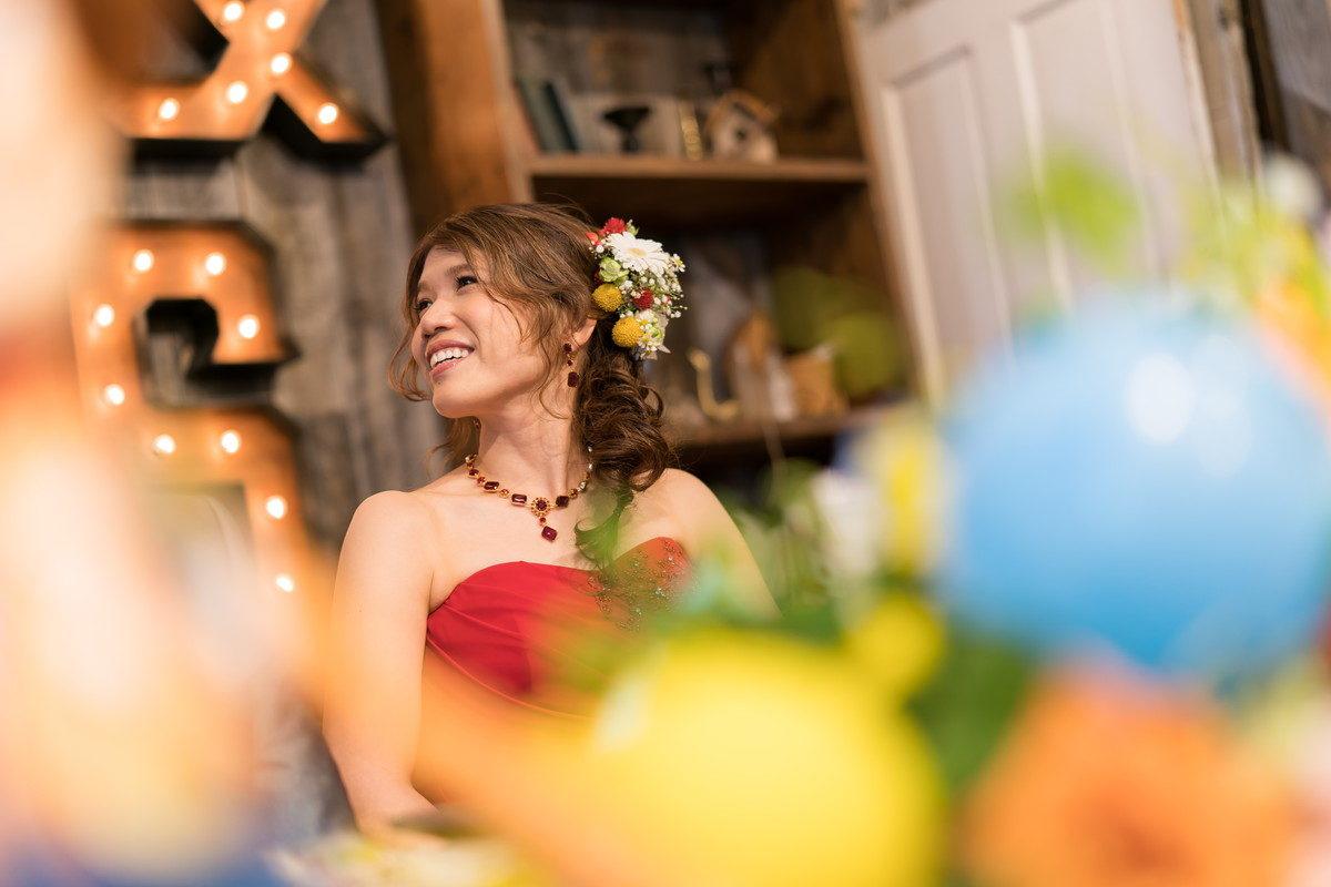 とっても笑顔がうつくしい花嫁 まわりを明るくします