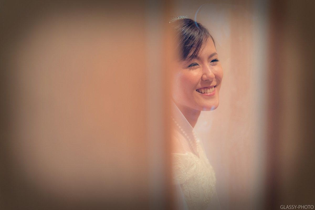 笑顔で応えてくれる花嫁さん